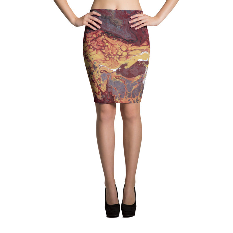 Fluid Nole Love Pencil Skirt Front