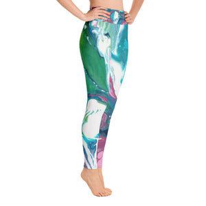 Fluid Pink & Green AA Leggings Left NEW 9.24.18