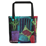 """Turquoise Chair"" Tote Bag"