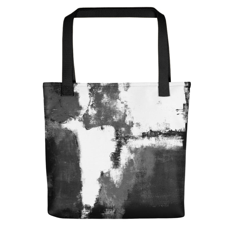 """Abstract Woman Black and White"" Tote Bag"