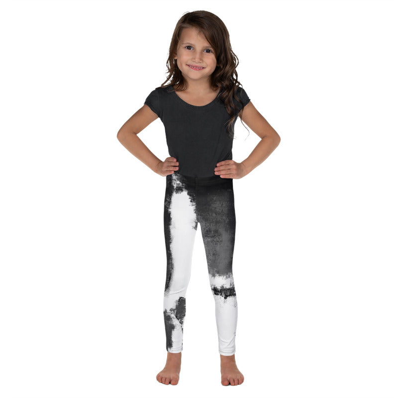 """Abstract Woman Black and White"" Fine Art Leggings for Kids"