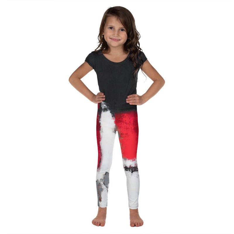 """Abstract Woman Grey"" Fine Art Leggings for Kids"