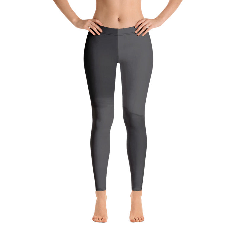 """Color Block Grey"" Regular-Waist Leggings"