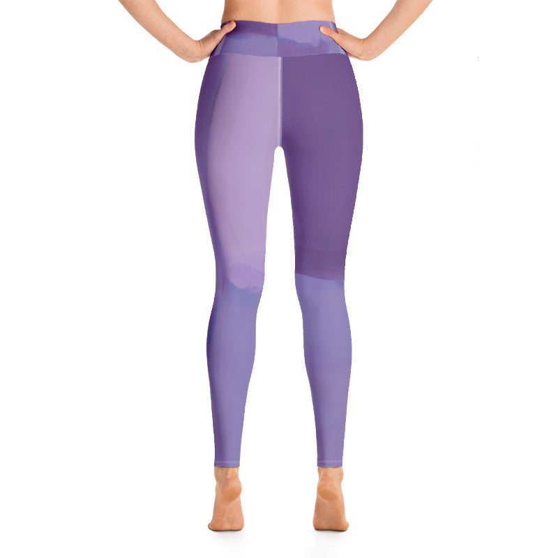 """Color Blocks Grey"" High-Waist Leggings"