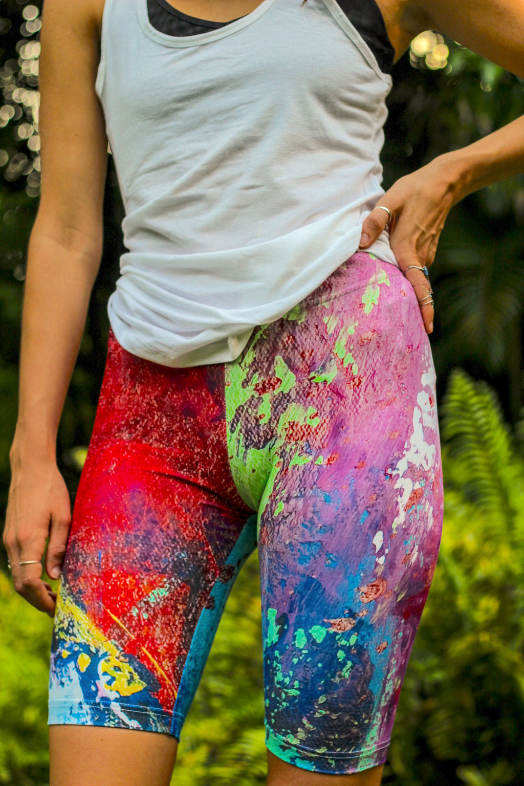 """Color Explosion"" Low-Waisted Biker Shorts"