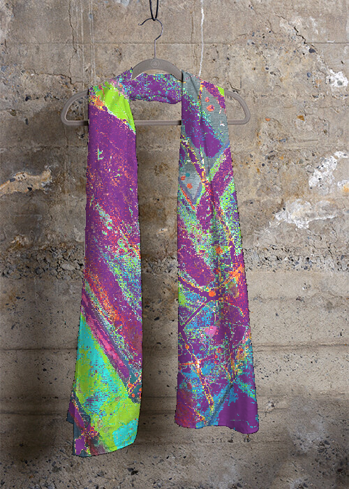 """Courageous Purple and Green"" Scarf"