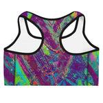 """Courageous Purple and Green"" Sports Bra"