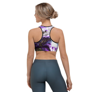 """Fluid Purple"" Sports Bra"