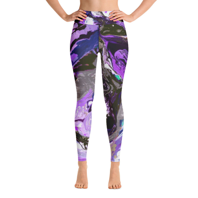 """Fluid Purple"" High-Waist Leggings"