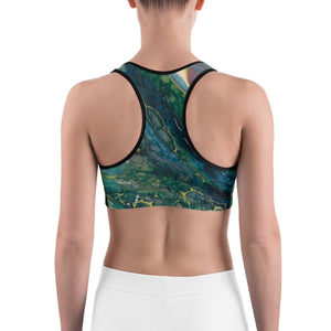 """Fluid Dark Teal"" Sports Bra"