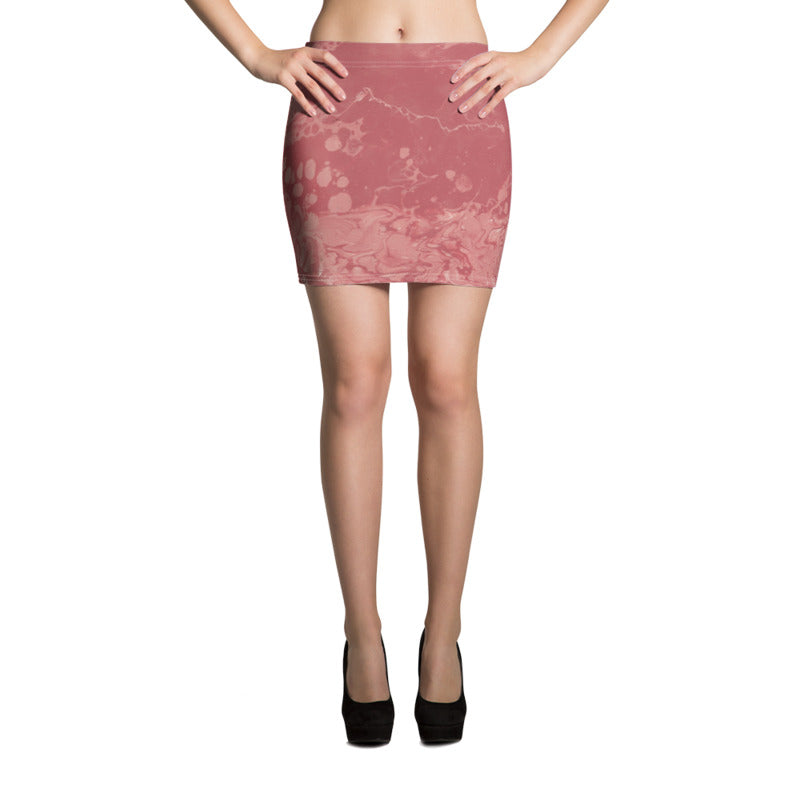 """Fluid Rose"" Miniskirt"