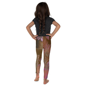 """Foliage Browns"" Art Leggings for Kids"