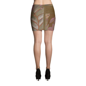 """Foliage Browns"" Miniskirt"