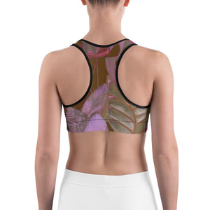 """Foliage Browns"" Sports Bra"