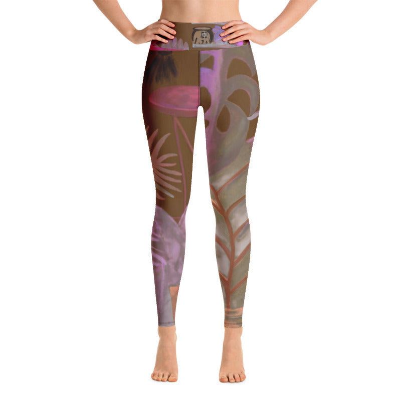 """Foliage Browns"" Art Athleisure Leggings"