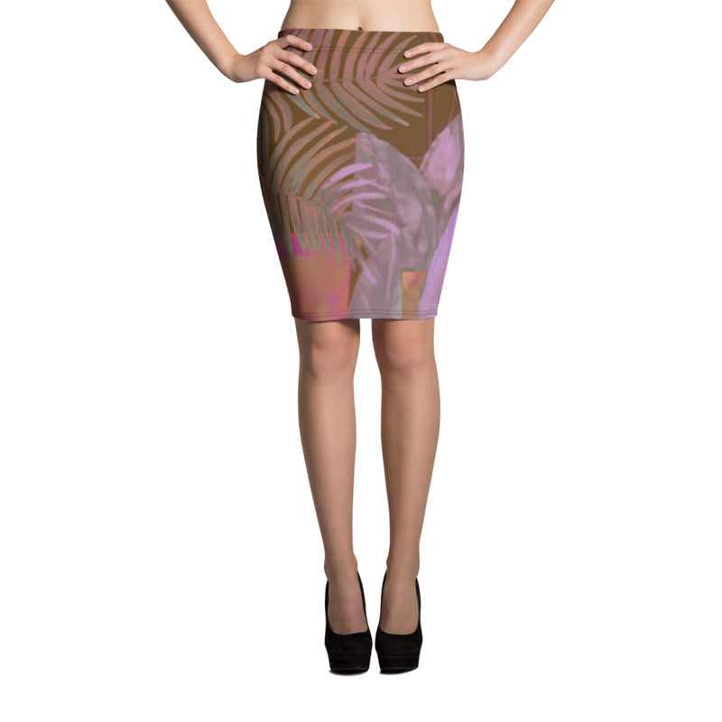 """Foliage Browns"" Pencil Skirt"
