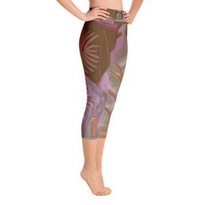 """Foliage Browns"" Art Athleisure Capris"