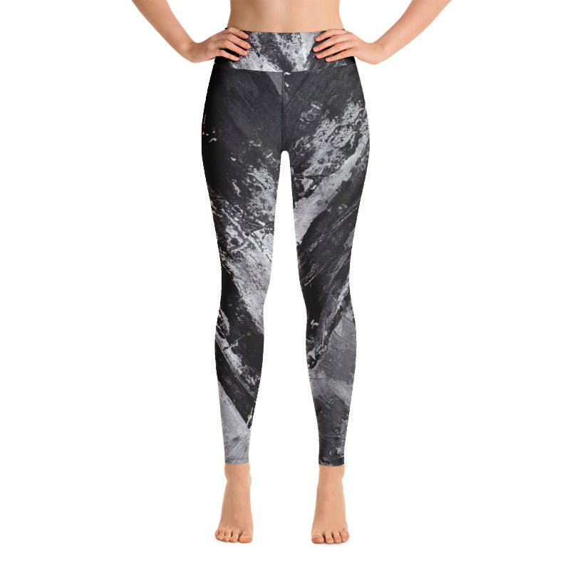 """Heart Explosion Noir"" High-Waist Leggings"