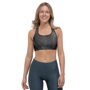 """Heart of Color Black"" Sports Bra"