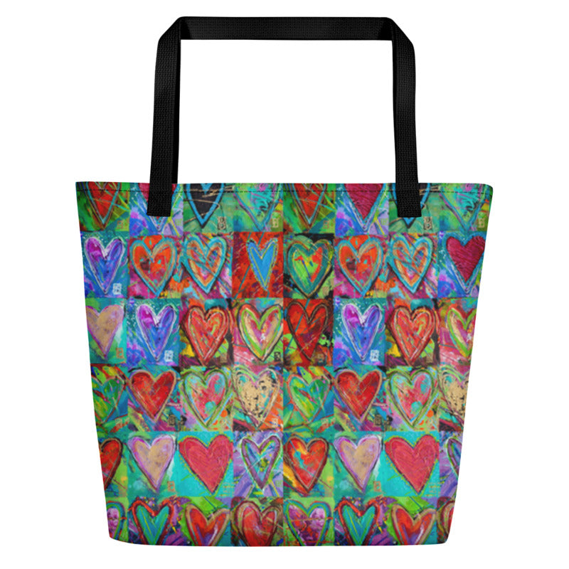 """Hearts Without Borders"" Art Athleisure Beach Bag"