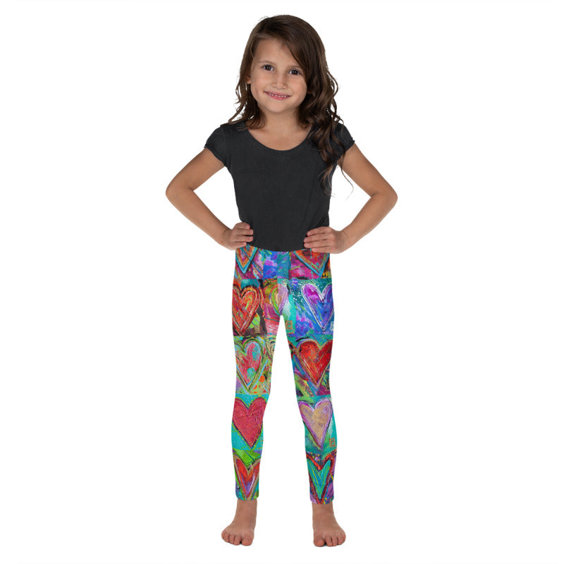 """Hearts without Borders"" Fine Art Leggings for Kids"