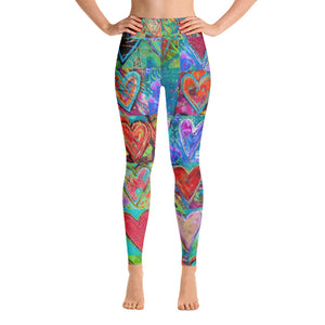 """Hearts Without Borders"" High-Waist Leggings"