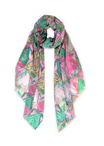 """Hearts without Borders Pink"" Scarf"
