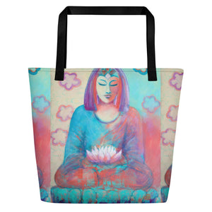 """Lotus"" Beach Bag"