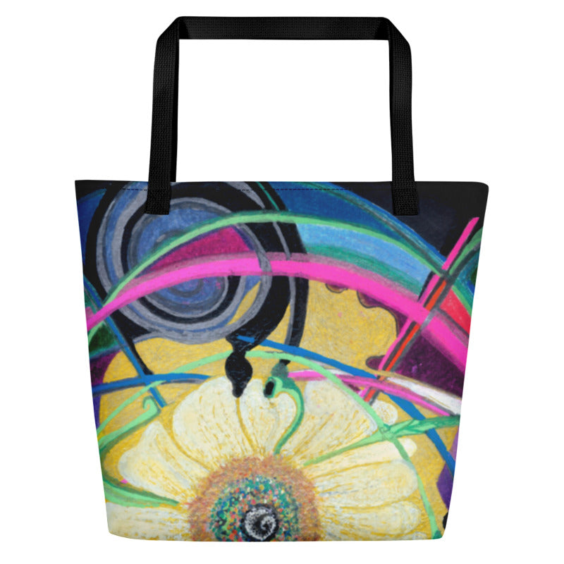 """Nicole's Abstract"" Beach Bag"