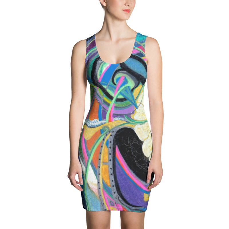 """Nicole's Abstract"" Bodycon Dress"