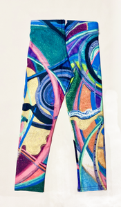 """Nicole's Abstract"" Leggings for Kids"