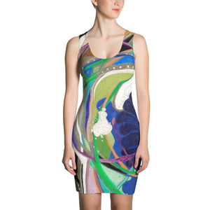 """Nicole's Abstract II"" Bodycon Dress"
