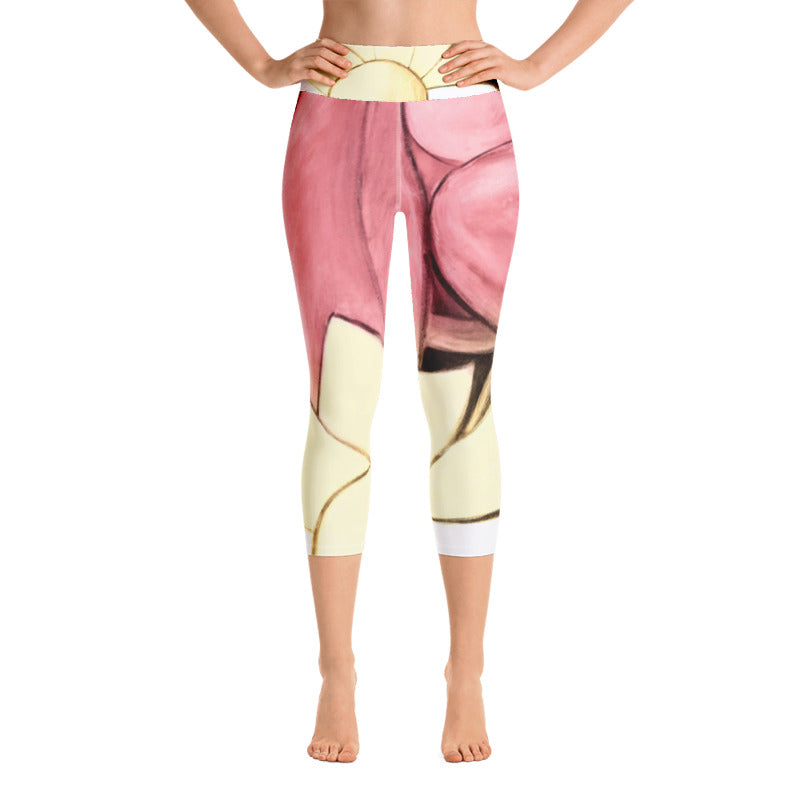 """Rose Gold"" Art Athleisure Capri"