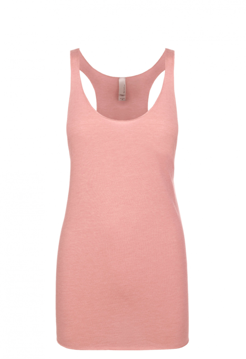 """Desert Pink"" Threads Tri Blend Tank Top"
