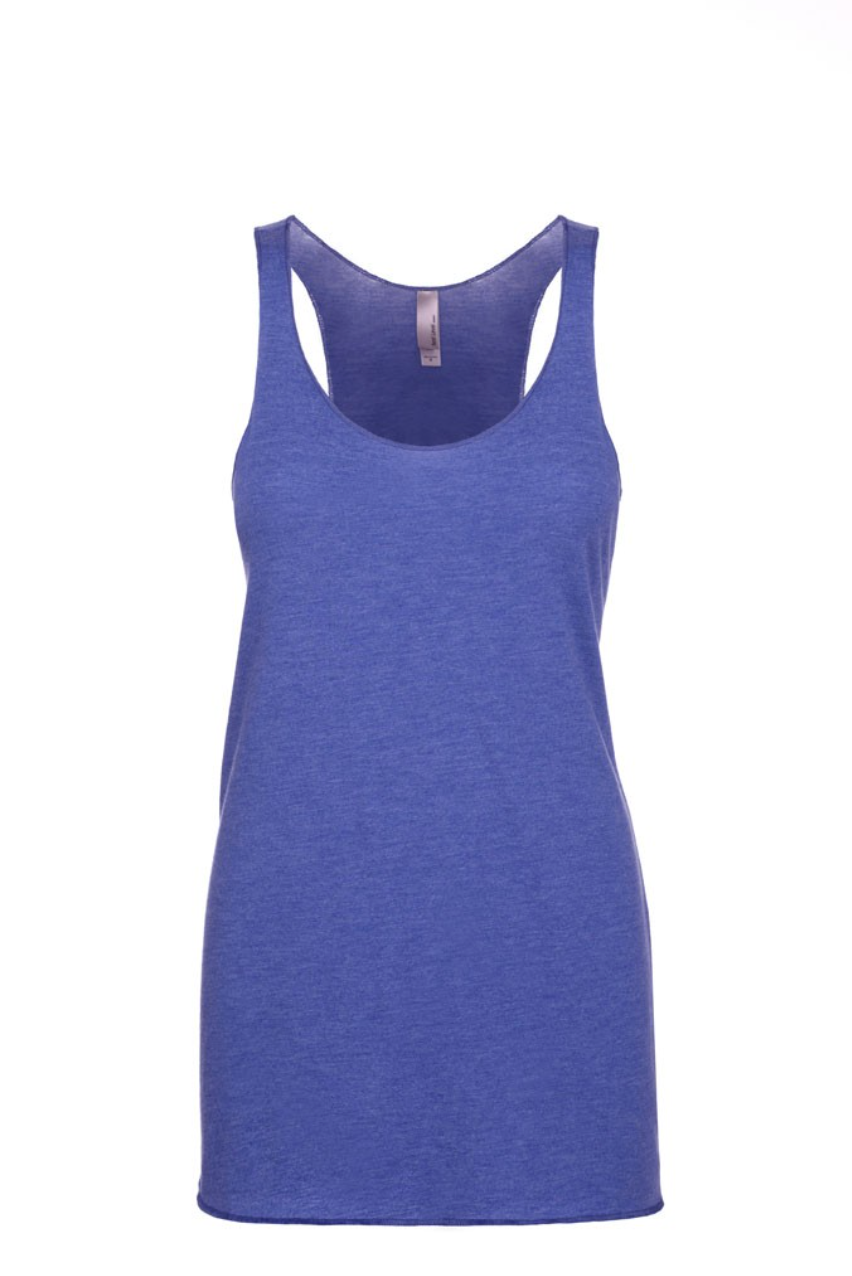 """Vintage Royal Blue"" Threads Tri Blend Tank Top"