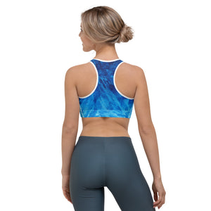 """Tie-Dye Blue"" Sports Bra"
