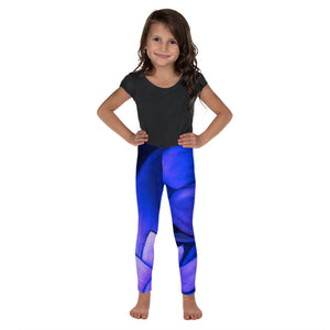 """White Flowers at Midnight II"" Leggings for Kids"