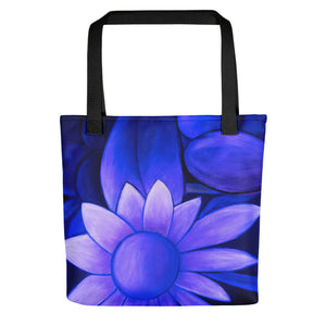 """White Flowers at Midnight II"" Tote Bag"