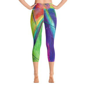 Heart of Color Art Athleisure Capri Back
