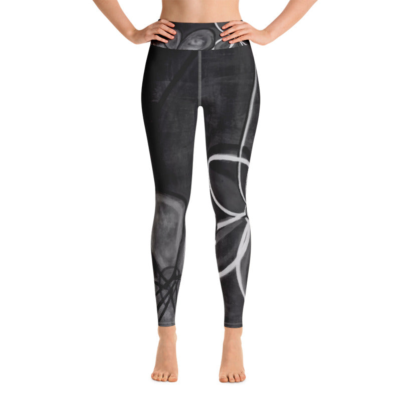 """Abstract Noir"" Art Athleisure Leggings"