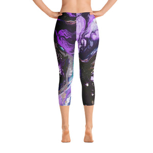 """Fluid Purple"" Regular-Waist Capris P"
