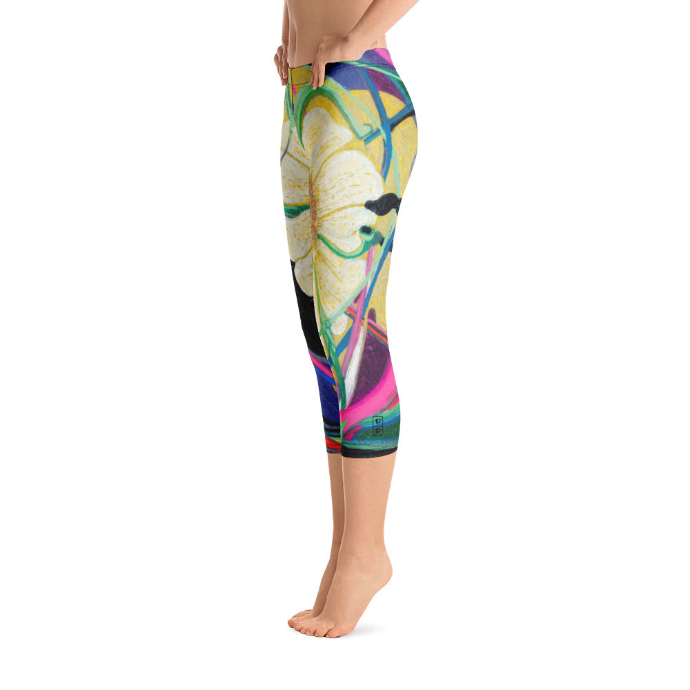 """Nicole's Abstract I"" Regular-Waist Capris P"