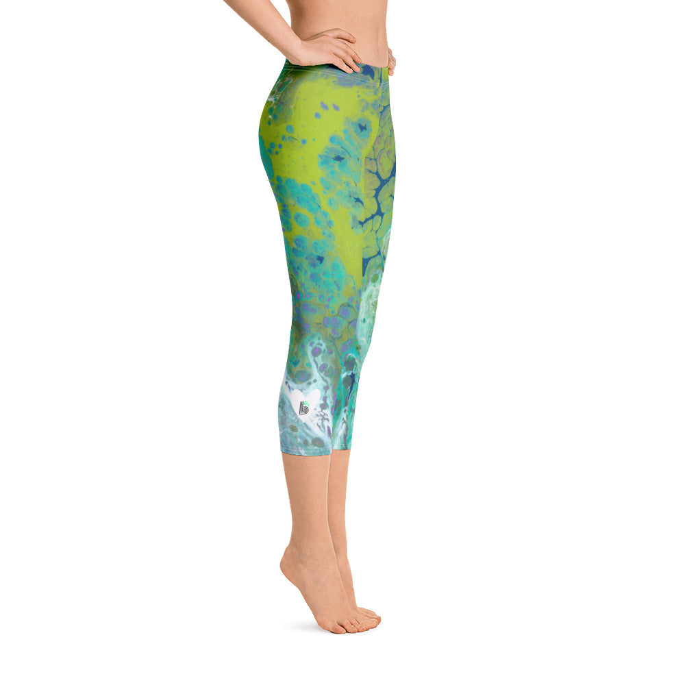 """Fluid Lime BBBS"" Regular-Waist Capris P"