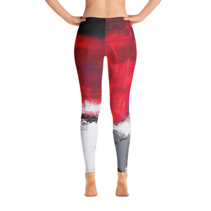 """Abstract Woman Red and Grey"" Regular-Waist Leggings P"