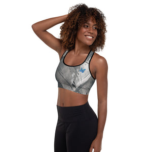 """Heart of Color Grey Tidewell"" Padded Sports Bra P"