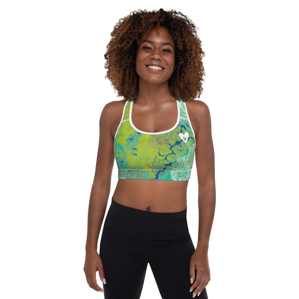 """Fluid Lime BBBS"" Padded Sports Bra P"