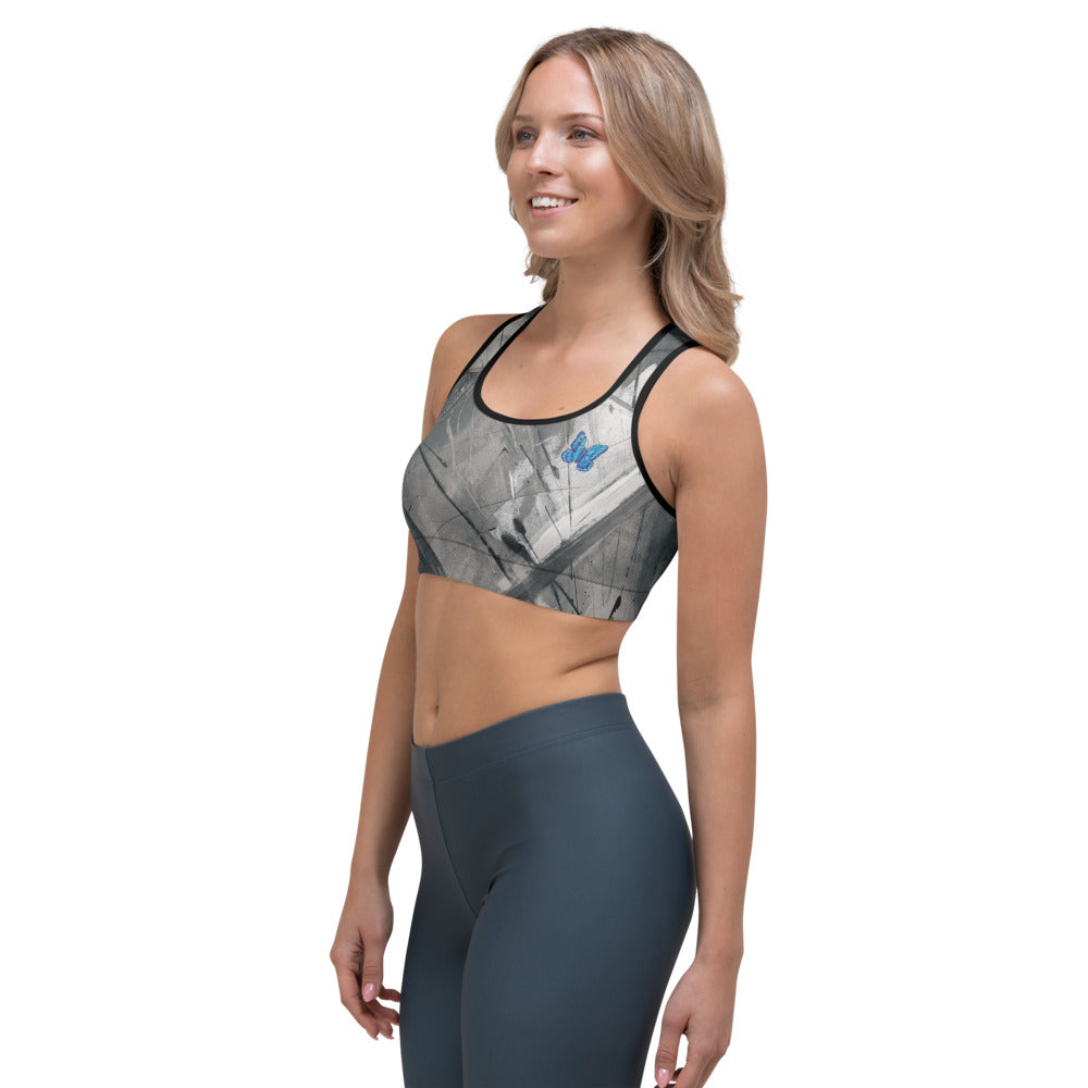"""Heart of Color Grey Tidewell"" Sports Bra P"