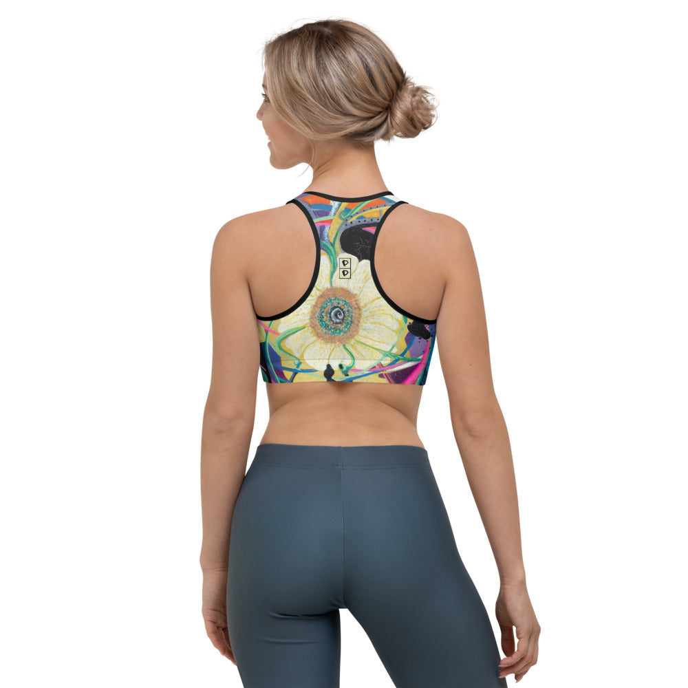"""Nicole's Abstract I"" Sports Bra P"
