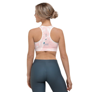 """Fluid Pink and White CCC"" Sports Bra P"