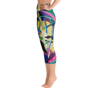 """Nicole's Abstract I"" High-Waist Capris P"